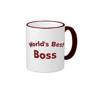 World's best boss ringer mug