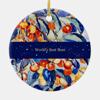 World's Best Boss (Theo van Rysselberghe artwork) Christmas Ornament