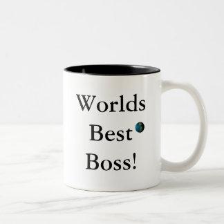 Worlds Best Boss! Two-Tone Coffee Mug