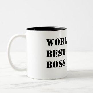 World's Best Boss Two-Tone Coffee Mug