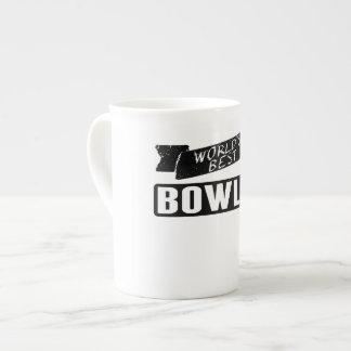 World's Best Bowler Bone China Mug