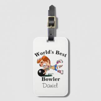 World's Best Bowler Luggage Tag