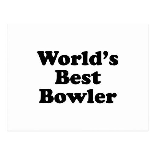 World's Best Bowler Postcard