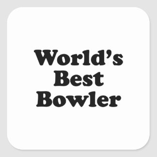 World's Best Bowler Square Sticker