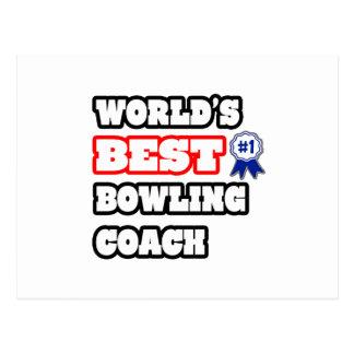 World's Best Bowling Coach Postcard