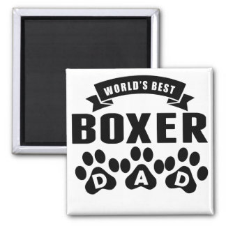 World's Best Boxer Dad Square Magnet