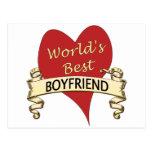 World's Best Boyfriend Post Cards