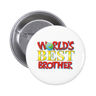 World's Best Brother 6 Cm Round Badge
