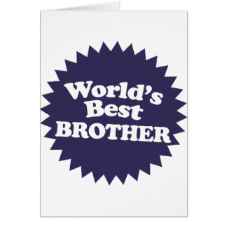 World's Best Brother Greeting Card