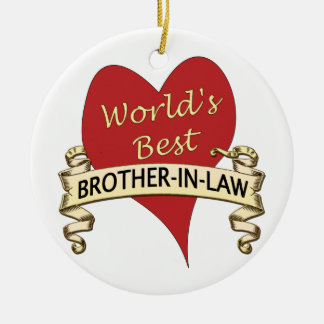 World's Best Brother-In-Law Christmas Ornament