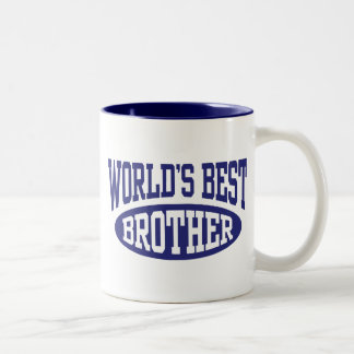 World's Best Brother Two-Tone Coffee Mug