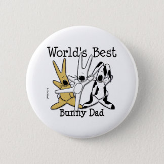 World's Best Bunny Dad Button