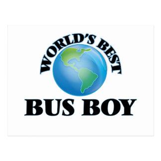 World's Best Bus Boy Post Card