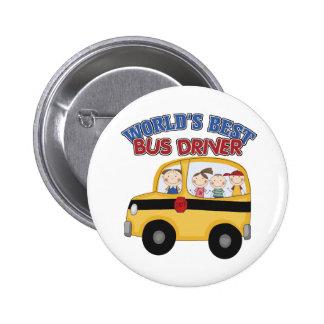 World's Best Bus Driver 6 Cm Round Badge