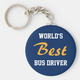 World's Best Bus Driver keychain