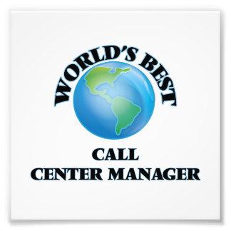 World's Best Call Center Manager Photo Art