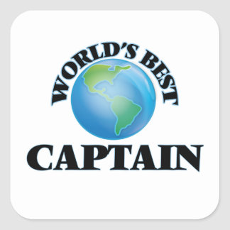 World's Best Captain Square Sticker