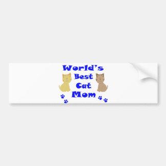 World's Best Cat Mom Bumper Sticker