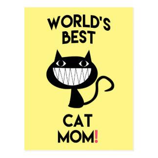 World's best cat mom! Fun Postcard