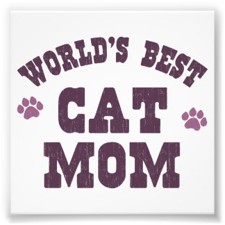 World's Best Cat Mom Photo Print