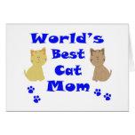 World's Best Cat Mum Greeting Card