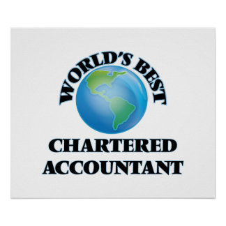 World's Best Chartered Accountant Poster