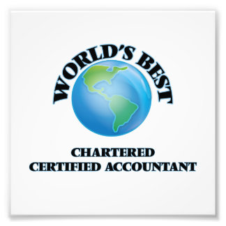 World's Best Chartered Certified Accountant Photo Art