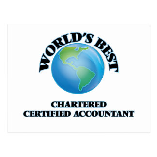 World's Best Chartered Certified Accountant Post Cards