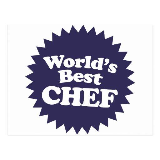 World's Best Chef Postcard
