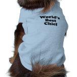World's Best Chief Sleeveless Dog Shirt
