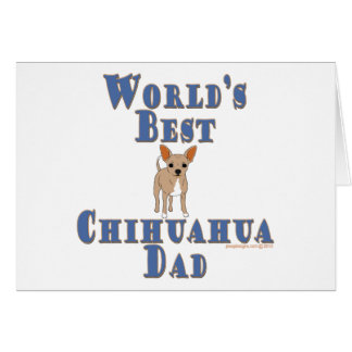 World's Best Chihuahua Dog Dad Card