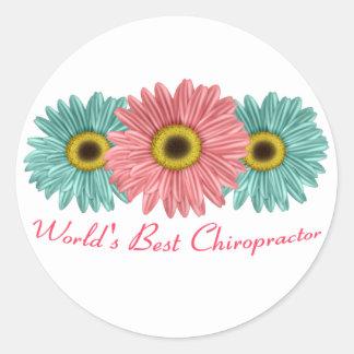 World's Best Chiropractor Round Sticker