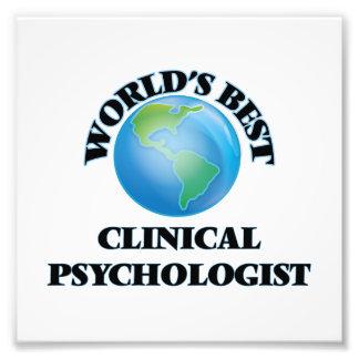 World's Best Clinical Psychologist Photo Art