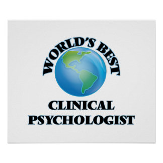 World's Best Clinical Psychologist Poster