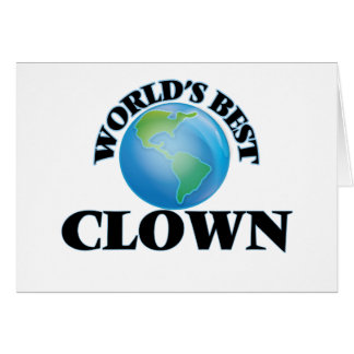 World's Best Clown Greeting Cards