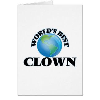 World's Best Clown Card