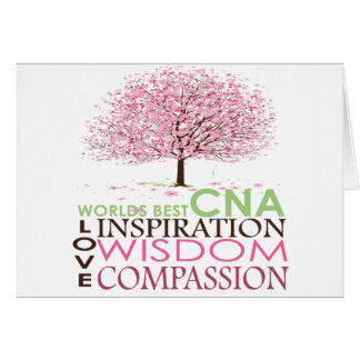 World's Best CNA Gifts Greeting Card
