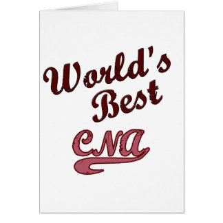 World's Best CNA Greeting Card