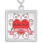 World's Best CNA Square Pendant Necklace