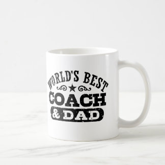 World's Best Coach And Dad Coffee Mug