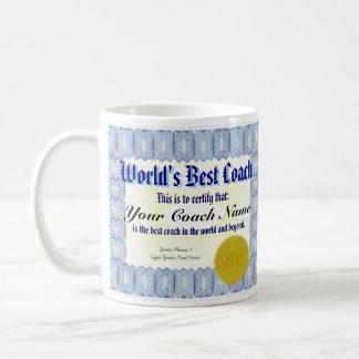 World's Best Coach Certificate Mug