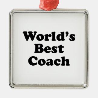 World's Best Coach Christmas Ornament