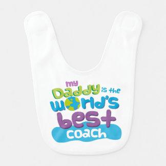 Worlds Best Coach Dad baby bib