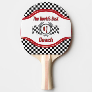 World's Best Coach - Number One Ping Pong Paddle