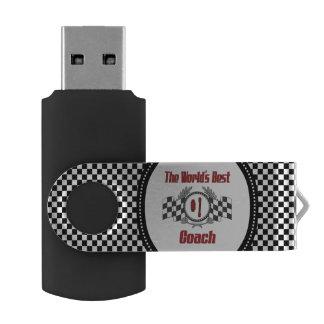 World's Best Coach - Number One Swivel USB 2.0 Flash Drive