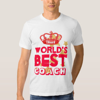 World's Best COACH Red Crown and Stars V09C T-shirt