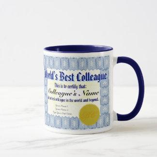 World's Best Colleague Certificate Mug