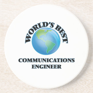 World's Best Communications Engineer Beverage Coaster