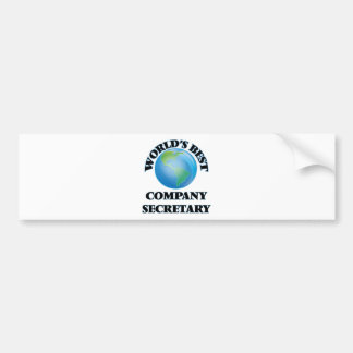 World's Best Company Secretary Bumper Sticker