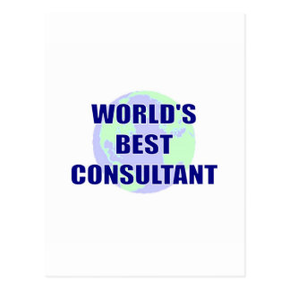 World's Best Consultant Postcard